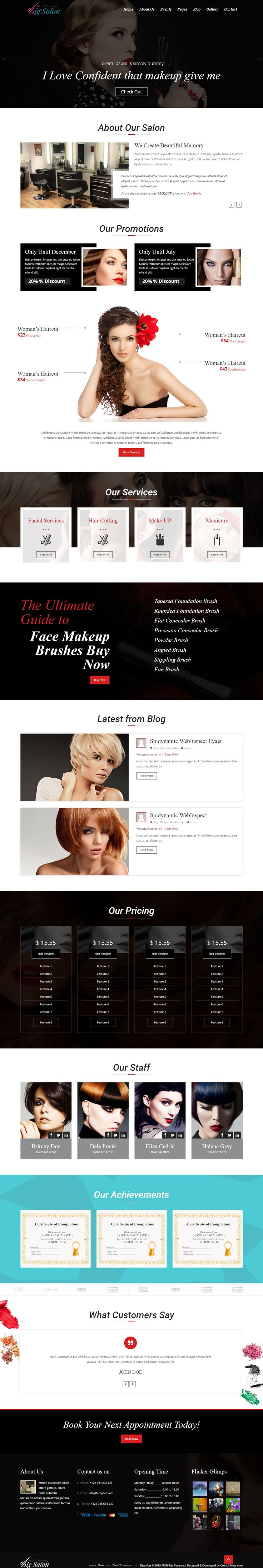 Big Salon WordPress Theme for Hair