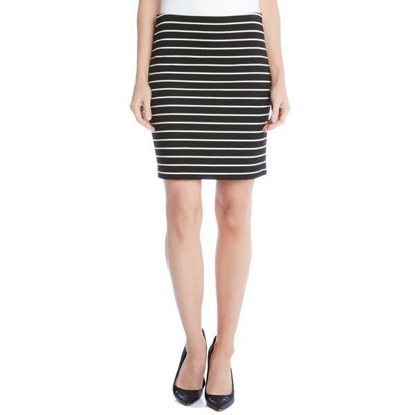 Women's Karen Kane Stripe Pencil Skirt ($69) ❤ liked on Polyvore featuring skirts, stripe, stretch pencil skirt, stripe pencil skirt, stretchy pencil skirt, stretchy skirts and striped pencil skirt