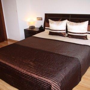 Luxusný pehoz na posteľ hnedej farby