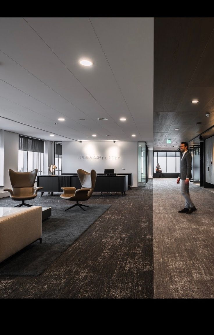Such Sophisticated office with Rethread tiles/Shaw contract  Architect: Fokkema & Partners, the Netherlands Photo: Sebastian van Damme