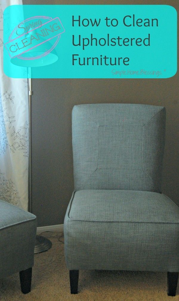 how to clean upholstered furniture yourself