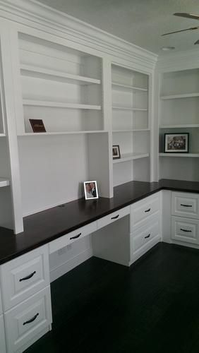 West 76th Street traditional home office