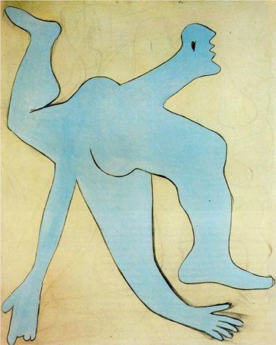 A blue acrobat Artist: Pablo Picasso Completion Date: 1929 Style: Surrealism Period: Neoclassicist & Surrealist Period Genre: genre painting Technique: oil Material: canvas Dimensions: 162 x 130 cm Tags: actors-and-performances