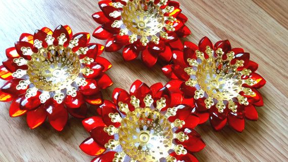 Diwali Diya Motif Rhinestone Set of 2 Diwali by JustForElegance