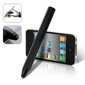 Capacitive Touchscreen black Stylus pen for iPhone iPad