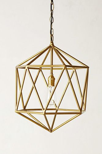 """Apartment Makeover In 29 Spring Buys #refinery29  http://www.refinery29.com/interior-design-tips#slide7  Tip 2:  """"I love the shape and design of this. The brass really would transform a space."""" Anthropologie Euclidean Pendant, $248, available at Anthropologie."""