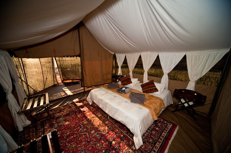 Expedition style bedroom splendour at Hayward's Grand Safari Company.