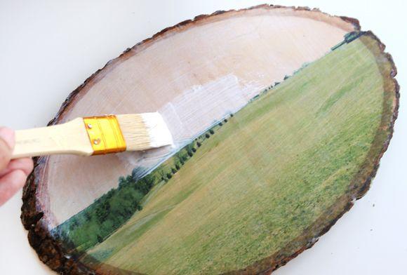 μεταφορά φωτογραφιών diy ξύλου