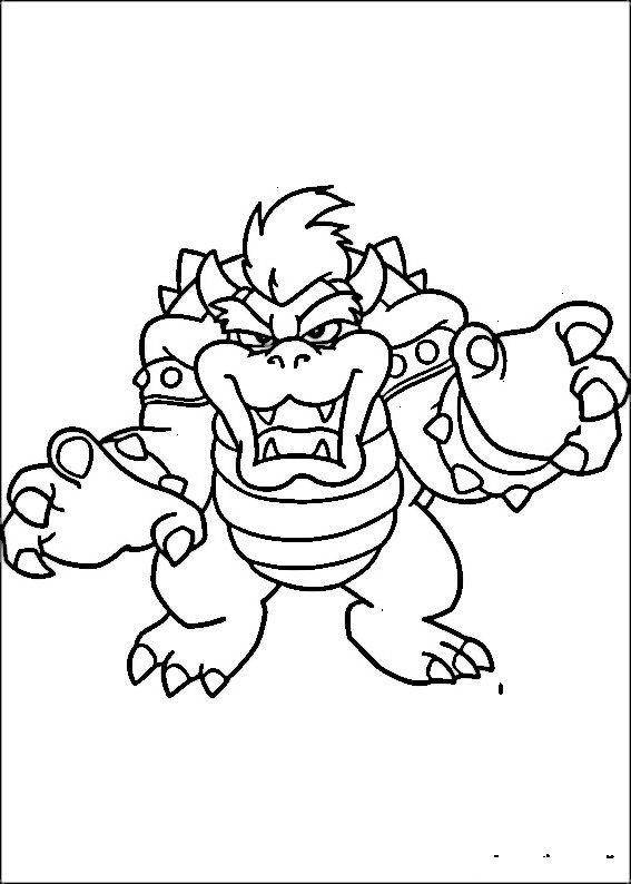 Mario Bross Fargelegging For Barn Tegninger For Utskrift