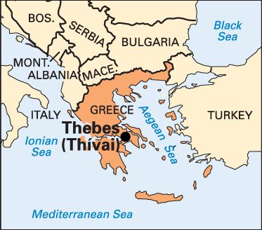 Thebes Greece Map | Thebes, Greece