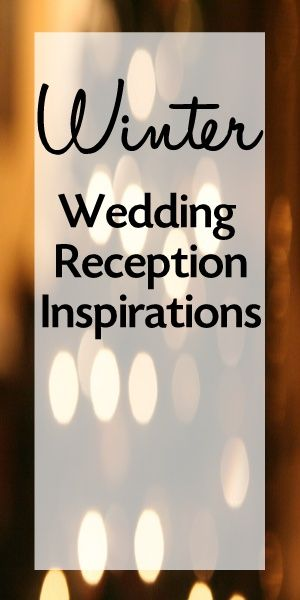 Winter Wedding Reception Inspiration. Some really good ideas for a winter wedding!