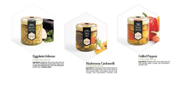 Eggpplant julienne Cardoncelli mushroom Grilled Peppers #food  #slowfood  #italy #gourmet #deli #export