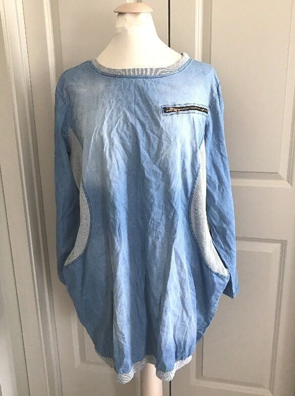 Genial Couleur Lin Size 48 Blouse Tunic Made In Italy #CouleurLin #Blouse