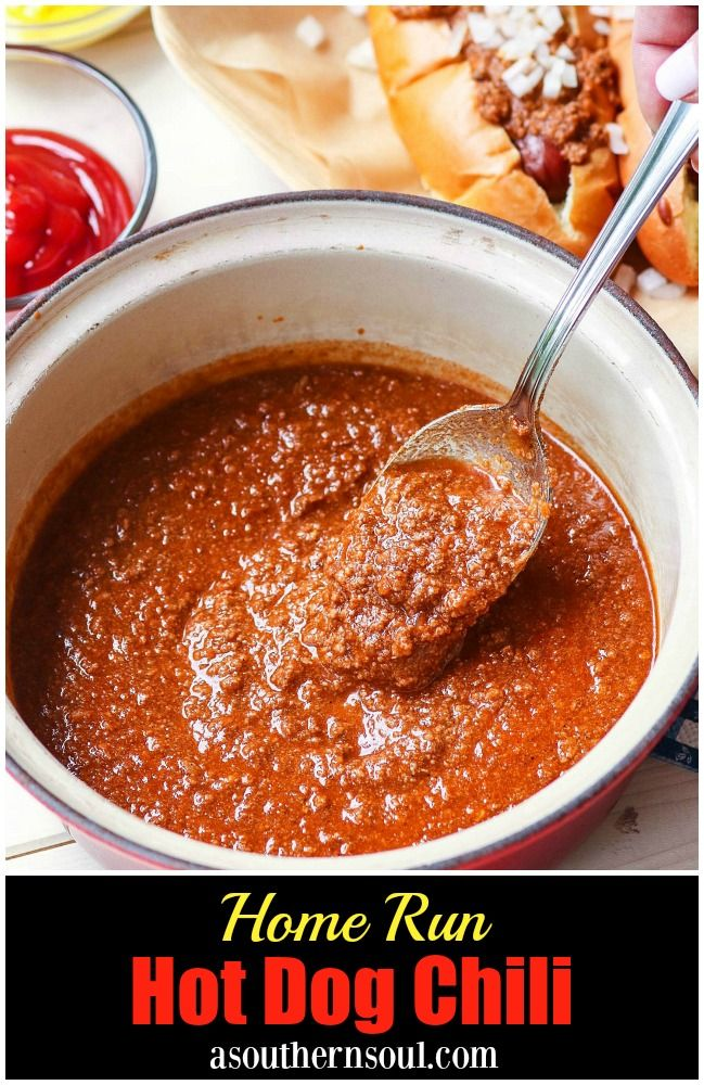 American Servings 8 Ingredients 1 1 2 Pounds Ground Beef 1 Cup Onion Chopped 2 Cloves Garli Hot Dog Chili Hot Dog Sauce Recipe Southern Hot Dog Chili Recipe