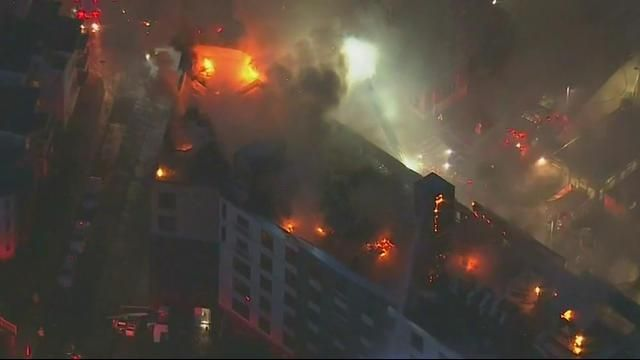 More on 6 Alarm Blaze in Boston/Dorchester area on 6/27/17 – Boston News, Weather, Sports   WHDH 7News - the only picture I found from yesterday - top 2 floors totally gone - roof gone - possibly building will have to come down.- cause unknown - currently a generator located near the origin point is a possibility- but other factors need checking. No serious injuries.- full call out is still on scene.