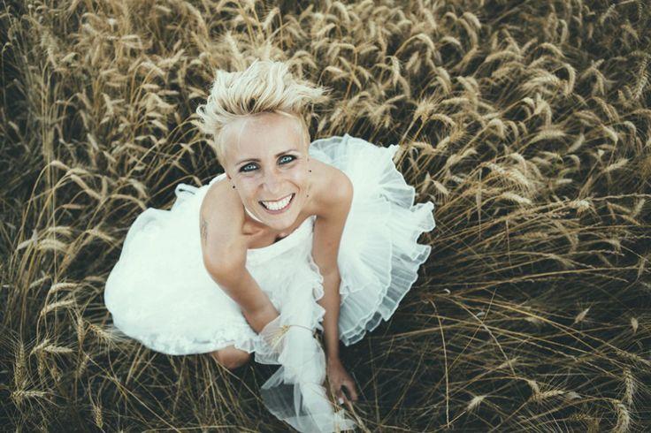 Bride In Bespoke Gown | Industrial Wedding | Destination Wedding | Italy | Intimate Reception | Images By Maria Bryzhko | http://www.rockmywedding.co.uk/lara-fabio/