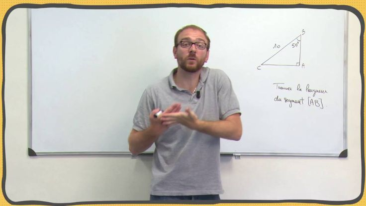 Maths - Cosinus - SInus - Tangente d'un angle aigu