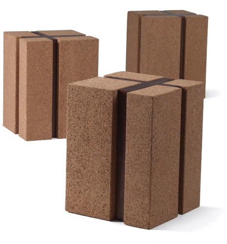 Cork And Walnut Side Table Materials High Density Cork
