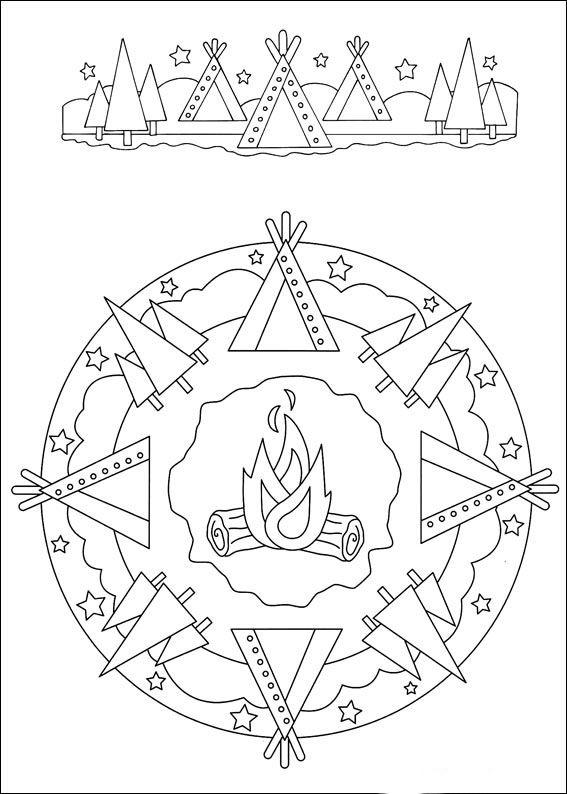 Disegni da Colorare Mandalas 78