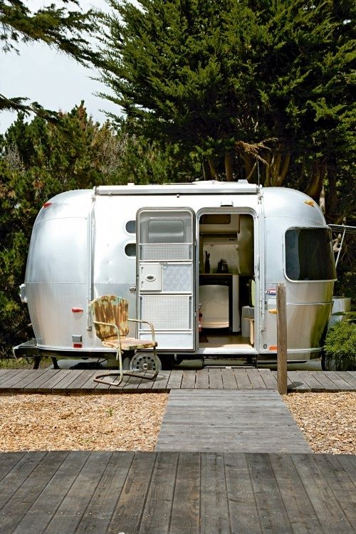 Vintage Airstream trailer- perfect for camping!