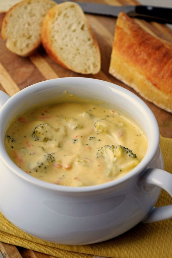 Broccoli Cheese Soup. Delicious and creamy soup recipe for winter.