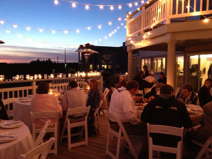 rental beach house wedding reception