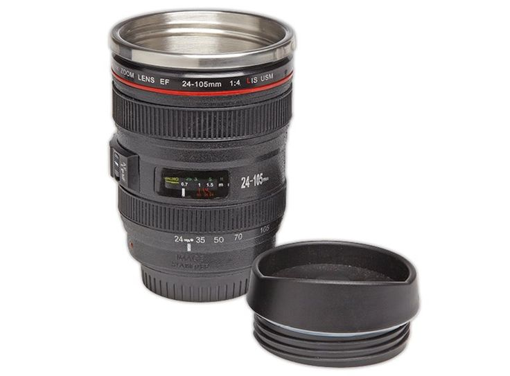 Isoleerbeker cameralens - mug camera - Leuk kado voor fotografen! #kamperen #kado #blog #ilovekamperen