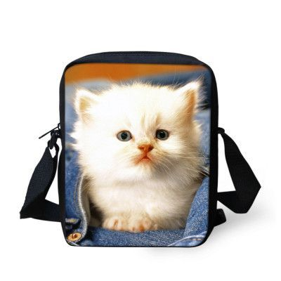 Pick from many different cat prints on a messenger bag. Interior: Interior Compartment,Cell Phone Pocket,Interior Zipper Pocket,Interior Slot Pocket Lining Material: Polyester Closure Type: Zipper Har