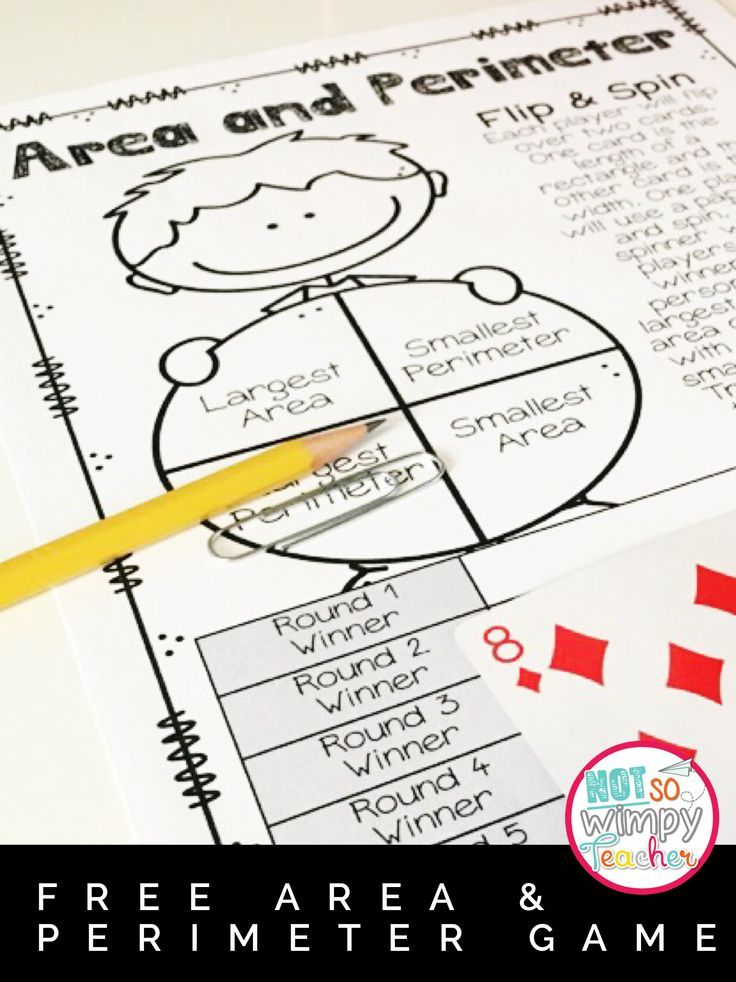 Free area and perimeter game that is perfect for math centers!