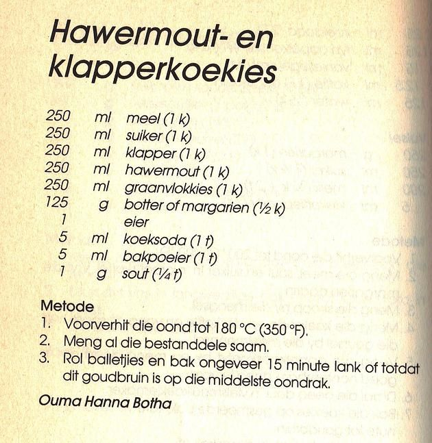 Rainbow Gospel Radio | Hawermout- en Klapperkoekies