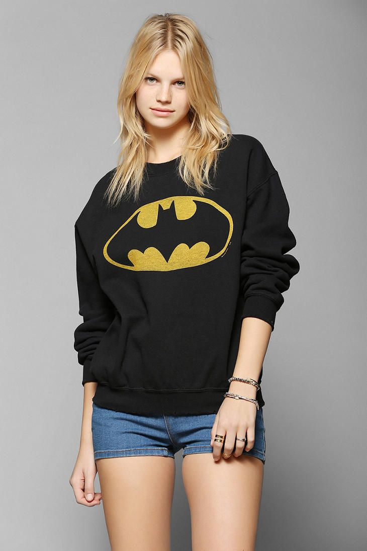 Junk Food Batman Pullover Sweatshirt Available at Urban Outfitters. www.junkfoodclothing.com #junkfoodtees #urbanoutfitters