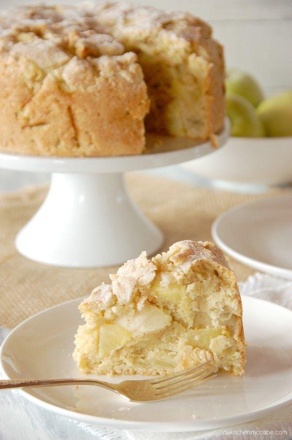 Irish Apple Cake with Custard Sauce - The Kitchen McCabe