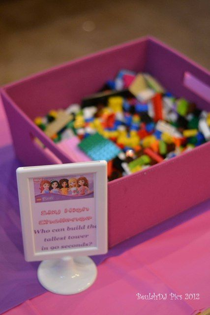 "Photo 1 of 40: LEGO® Friends, Pink, Purple, Girl / Birthday ""Danika's LEGO® Friends 7th Birthday"" | Catch My Party"