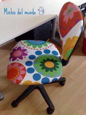 tapizar una estropeada y antigua silla de escritorio