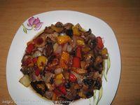 Όρεξη να 'χεις .../Oreksi na 'xeis: Χοιρινό με μανιτάρια και πιπεριές,με μπαλσάμικο και μέλι!