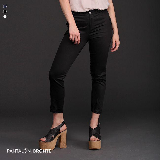 Imprescindible. El Pantalón Bronte, de algodón satinado y corte chupín al tobillo, es una prenda básica y elegante que se va a convertir en un comodín para tus looks. Hay 3 colores disponibles. ¿Cuál elegís?