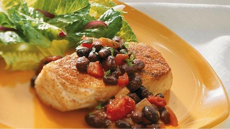 Broiled Snapper with Black Bean Salsa