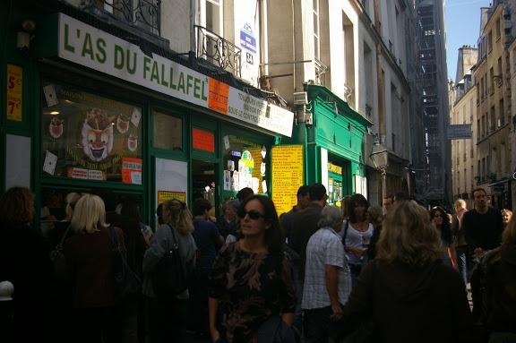 L'As du Fallafel. Maybe the best falafel I've ever had.