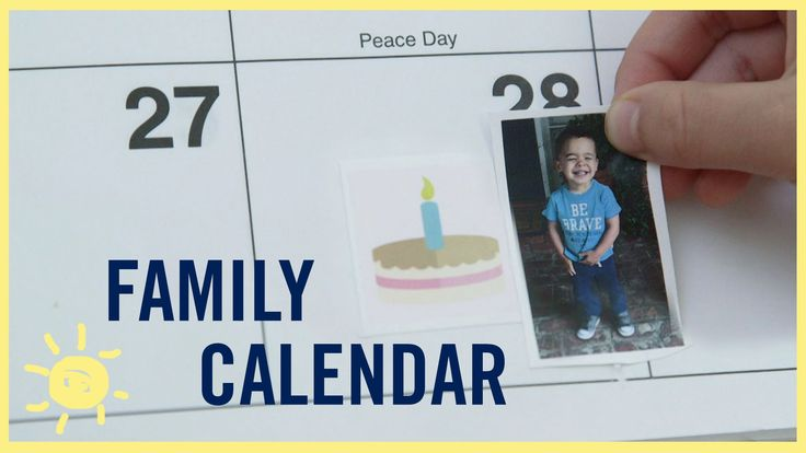 TIPS | Family Calendar (for kids who can't read!)