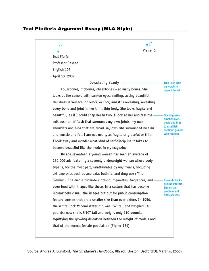 Mla Format Essay Template Scholarship With Regard To Sample Example