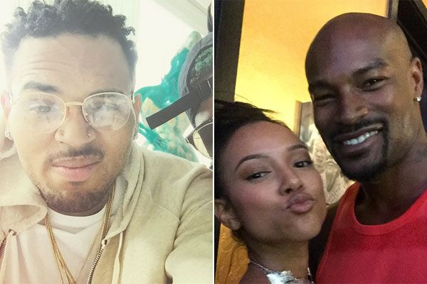 Chris Brown & Friends Send Threats To Tyson Beckford Over Karrueche Tran