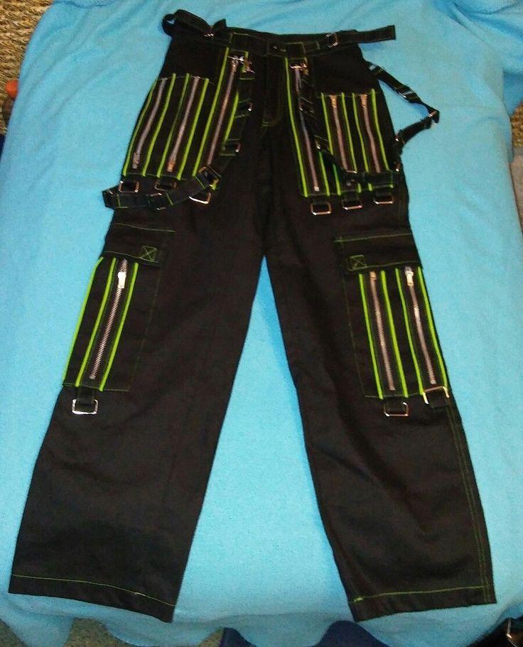 pants - black/green size 34-36