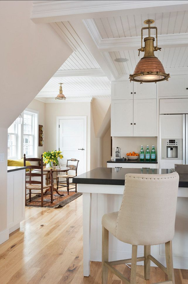 """Benjamin Moore Paint Colors. Kitchen Cabinet Paint Color: """"Benjamin Moore OC-65 Chantilly Lace"""". #BenjaminMoore #OC65 #ChantillyLace"""