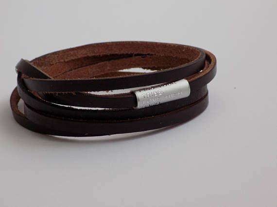 Inspirational Bracelet Leather Bracelet regalo personalizado  #mens #personalized #accesories #fashion #gifts #gift #formen #boyfriend #friends #dad #leather #bracelet #jewelry #craft #engraved #tie #tieclip #wedding #anniversary #birthday