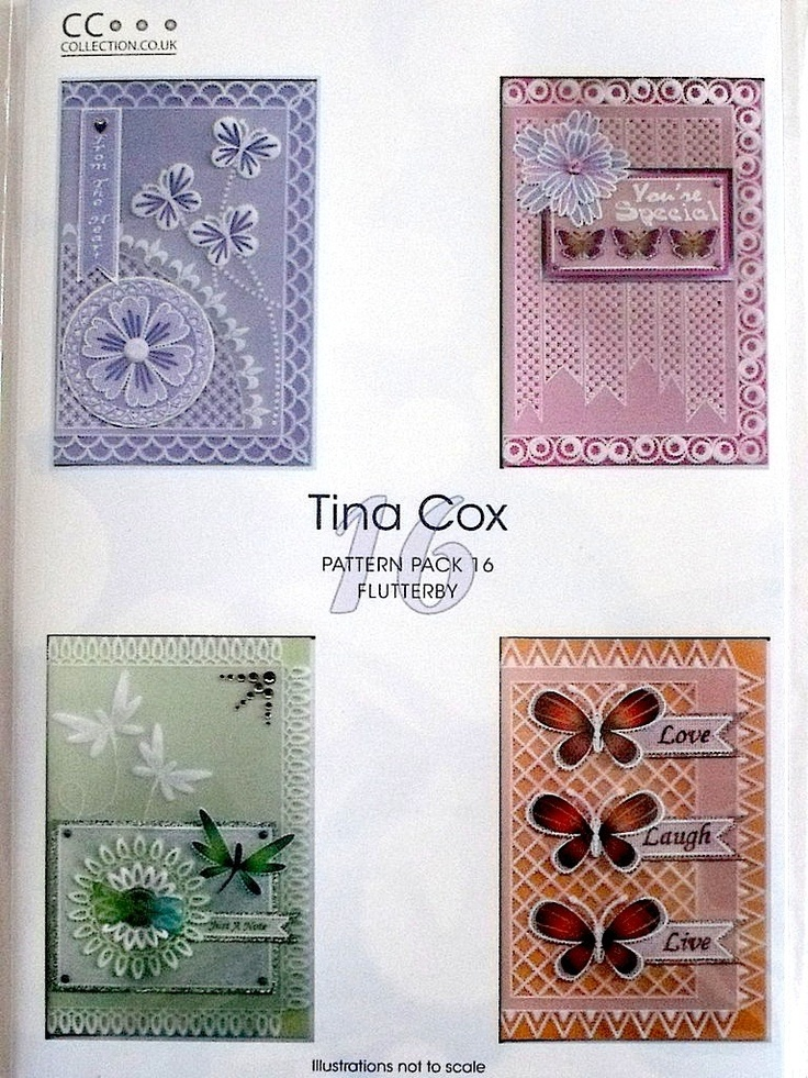 PATTERN PACK 16 - FLUTTERBY BY TINA COX      Pattern Pack Flutterby by Tina Cox.