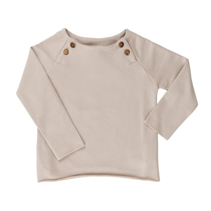 long sleeved top sand