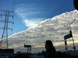 Medio Nublado, medio despejado cielo en Hermosillo