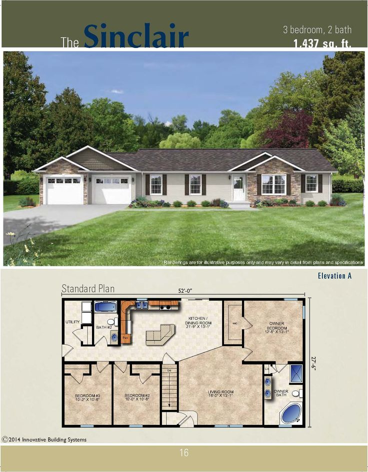 21 Best The Hometown Collection Of Ranch Plans Images On