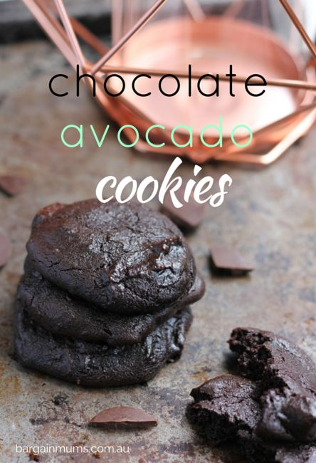 Not only are these CHOCOLATE AVOCADO COOKIES absolutely delicious, they are also healthier than ordinary cookies http://bargainmums.com.au/chocolate-avocado-cookies