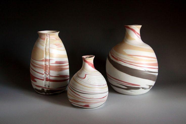 Striation Collection http://www.rediscovering.com.au/portfolio-of-work/#/marbled-porcelain-striation-collection/